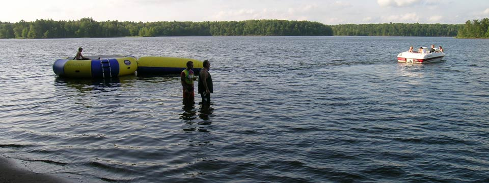 lake chippewa campground water activities